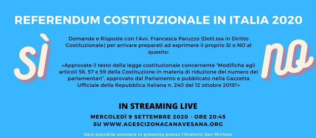 Referendum Costituzionale in Italia 2020